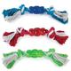 Grriggles Rope n Rubber Bone Dog Toy RED