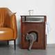 Cat Washroom-Nightstand Pet House White