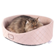 Armarkat Hooded Quilted Silver/Beige Cat Bed SM