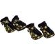 Pet Life Yellow and Black Comfort Dog Boots LG