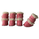 Pet Life Pink Shearling Duggz Dog Boots XS