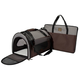 One for Pets Folding Carrier-The Dome Grey-Brown