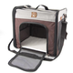 One for Pets Folding Carrier-The Cube Grey-Brown