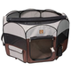One for Pets Grey/Brown Portable Pet Playpen XL