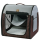 One for Pets Portable Pet Kennel Single Grey-Brown