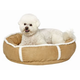 Quiet Time Deluxe Rondelle Pet Bed Khaki Small