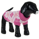 Pet Life Arygle Ribbed Pet Sweater Pink XS