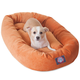 Majestic Pet Orange Villa Bagel Pet Bed 52 inch