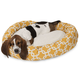 Majestic Pet Yellow Links Sherpa Bagel Bed 52 inch
