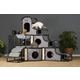 Prevue Catville Tower Gray Cat Furniture