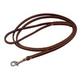 Latigo Dog Lead Burgundy 6 x 3/8