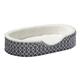 Quiet Time Teflon Gray Ortho Nesting Dog Bed XS