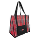 Kensington Large Mesh Tote Bag Red Plaid