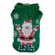 Pet Life LED Hands-Up-Santa Sweater Pet Costume LG