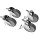 BrewBuilt™ X1 Uni Conical Rolling Caster Kit