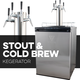 KOMOS® Stout & Cold Brew Coffee Kegerator with Intertap Stainless Steel Faucets