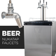 KOMOS® V2 Kegerator with NukaTap Stainless Steel Faucets