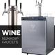 KOMOS® Wine Kegerator with NukaTap Stainless Steel Faucets