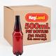 PET Beer Bottles - 500 mL (Case of 24)