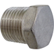 Stainless 1/2 in MPT Plug - Hollow