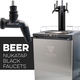 KOMOS® Kegerator with NukaTap Matte Black Stainless Faucets