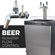 KOMOS® Kegerator with NukaTap Stainless Flow Control Faucets