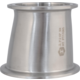 ForgeFit® Stainless Tri-Clamp Eccentric Reducer - 3 in. x 2.5 in.