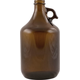 Beer Bottles - 64 oz Amber Trigger Grip Growler - Case of 6