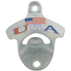Wall Mount Bottle Opener - USA with flag