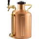 GrowlerWerks Pressurized Copper Growler - 128 oz