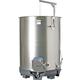 Speidel 1100L, 1000mm Diameter FO-M Variable Volume Dish Bottom Red Fermentation Tank w/ Forkliftable PF Base and Lid
