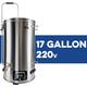 Robobrew / BrewZilla V3 All Grain Brewing System With Pump - 65L/17.1G (220V)