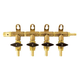 Gas Manifold - 4 Way (Brass)