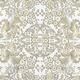 Gold/White Paradise Lace Oilcloth Fabric