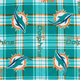 Miami Dolphins Plaid NFL Fleece Fabric