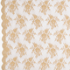 Gold Chantilly Stretch Lace Fabric