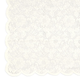 Ivory Floral Lace Square Table Overlay - 54