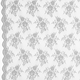 Silver Chantilly Stretch Lace Fabric