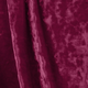 Burgundy Crushed Stretch Velvet Fabric