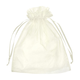 "12"" x 14"" Ivory Organza Favor Bags - 10 Pack"