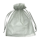 "12"" x 14"" Silver Organza Favor Bags - 10 Pack"