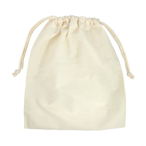 fur and leather patch drawstring pouch purse