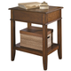 Hammary Mercantile Corner Table with One Shelf in Whiskey 050-942