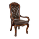 Acme Dresden Traditional Office PU Chair in Cherry Oak 12170 SPECIAL