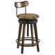 Hammary Studio Home Adjustable Stool in Medium Oak 166-948