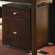 Hammary Tribecca 2-Drawer File Caddy in Root Beer 912-941
