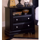 Vaughan-Bassett Cottage Collection 2-Drawer Commode in Black