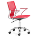 Zuo Modern Trafico Office Chair Red 205184