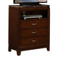 Homelegance Bleeker TV Chest in Brown Cherry 2112-11