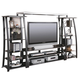Coaster Entertainment Wall Unit in Black and Silver 700681S
